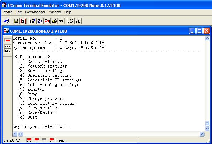 Initial IP Address Configuration 9.