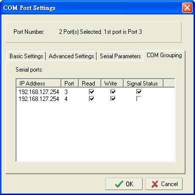 Configuring NPort Administrator ATTENTION The COM Grouping function only supports Windows NT, 2000, and later. The maximum number of ports for each group is 32