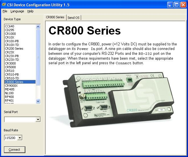 CR800 and CR850 Overview Updates to DevConfig are available from Campbell Scientific's web site. These may be installed over top of older versions. OV3.