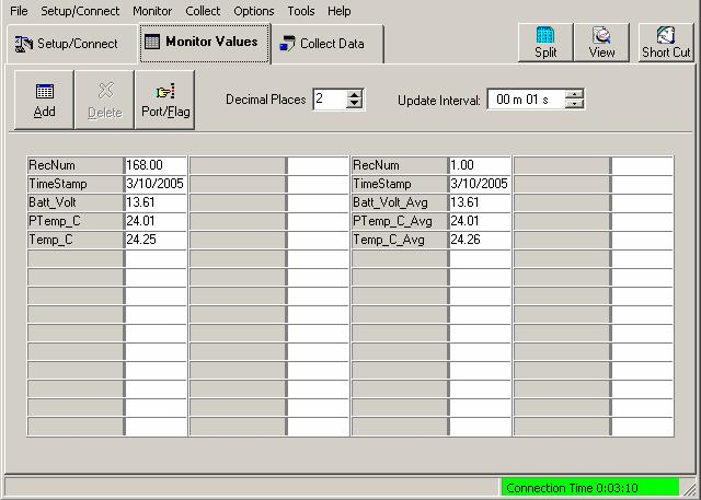 CR800 and CR850 Overview OV4.4.6 Collect Data Click on the Collect Data tab.