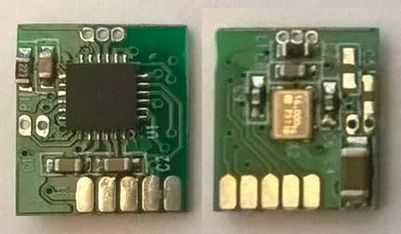 4GHz folded dipole antenna. Figure 33. The smallest SURFnet button For programming and data collection purpose the USB-SPI bridges were made in two versions as shown in Figure 34.