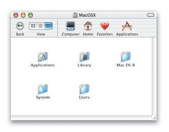 How your Mac OS X disk is organized The Applications folder contains the Mac OS X applications available to all users of your computer. The Utilities folder in it contains utility applications.