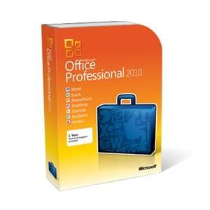 00 Microsoft Office 2010 Professional Word, Excel, Access, PowerPoint, OneNote, Publisher, Outlook License Quantity: 1 PC Price: $498.