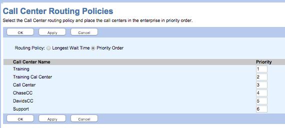 Figure 4-23: Call Disposition Codes Within the Call Center Routing Policies