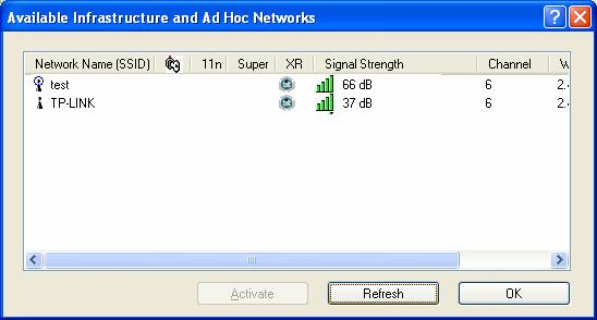 If no configuration profile exists for that network, the Profile Management window will open the General tab screen.