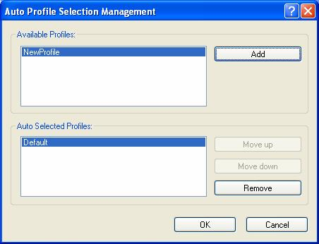 1. On the Profile Management screen (shown in Figure 3-2), click Order Profiles. 2.