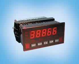 Industrial / Programmable Process Display MPAX Digital, programmable display for dual range input 0 to 10 V DC or 0/4 to 20 ma with 24 V DC transmitter power. Min./max.