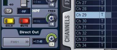 Routing Assignable HDx puts With HDx assignable outputs available in Pro Tools, you can route any mono or stereo D-Show channel to HDx assignable outputs, including channel Direct puts, Mains, Auxes,