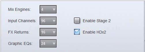 Systems with Two HDx Cards Enabling the Second HDx Card On D-Show systems with two HDx cards, to make HDx puts 49 96 available in the puts page of the Pro Tools I/O Setup dialog, the second HDx card