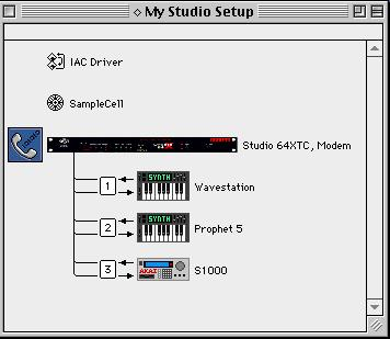 To edit the IAC driver s name: 1 Double-click the OMS Setup application. 2 In the Studio Setup window, double-click the IAC driver.