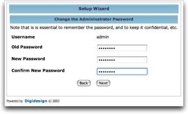 Configuring DigiDelivery with the Setup Wizard The Setup Wizard guides you through all essential steps to create your administration account, enter network settings, and update your system software.