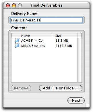 2 Do one of the following to create a new delivery: Click New Delivery. Drag files or folders onto the DigiDelivery main window.