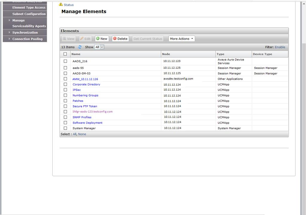 11. The Avaya Aura Device Services instance is added to System Manager Inventory.
