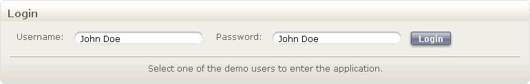 "Click on the ""Demo Users"" button to see the list of the demo users Click on the button"
