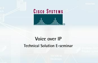 Welcome Welcome to the Technology Solutions E-seminar on Voice over IP. Everyday, companies make literally thousands of calls.