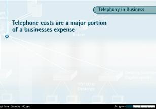 Telephony in Business As most businesses rely heavily on voice communications, telephone expenses represent a major portion of their ongoing operational costs.
