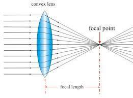Lenses - work by refraction Convex convergent Real focal point