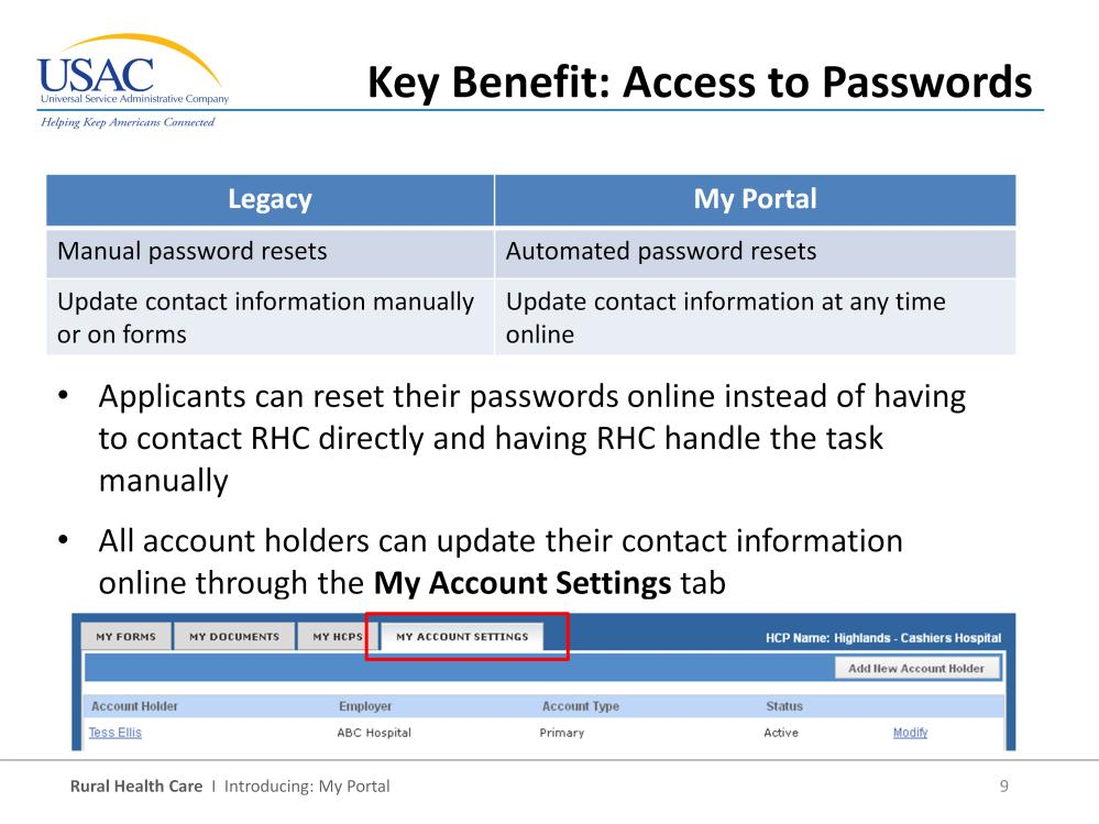 Speaking of passwords, we all struggle to keep our passwords memorized and we know there can be quite a few of them, especially in the legacy system where each individual has a separate login and