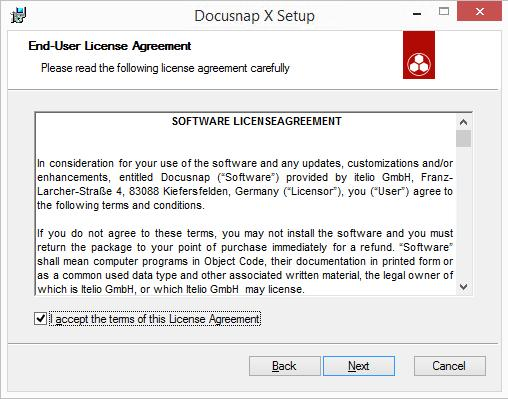 Introduction Page 22 The Next button will only be enabled after license agreement