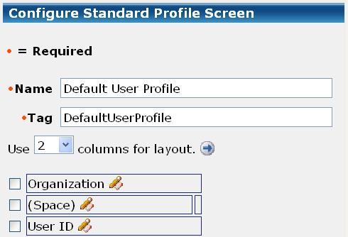 Profile Screen Customizations When you design a Profile screen, you select the fields that apply to that screen. The fields may correspond to profile attributes.