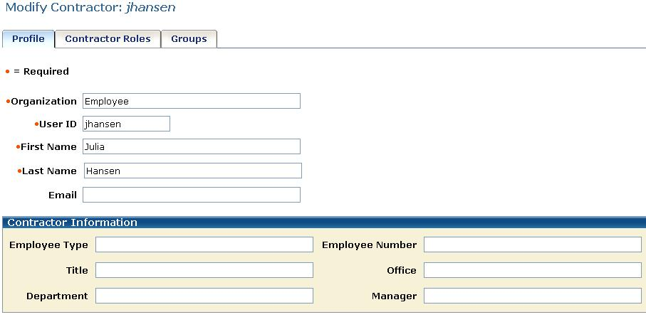 Additional Components in a Profile Screen Add Page Sections Page sections visually separate fields in a profile screen by adding a header and applying a different number of columns to part of a