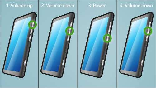 Follow next steps to perform OS reset with phone keys. Step 1 Make sure the phone is turned Off. 1. Press and hold the power key 2.