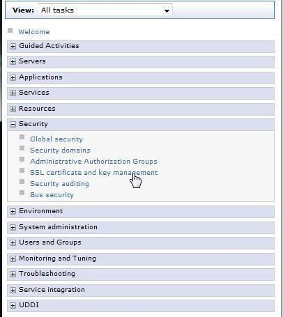 server. 1. Login to the Dashboard server and select Settings -> WebSphere Administrative Console. 2.