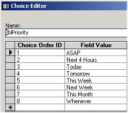 Sorting Choice Lists Web Views can list choices in any order.