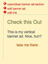 Create a Custom Vertical Banner Ad Follow steps 1-4 at right, and choose the Custom Banner Ad type. Then... 7 1.