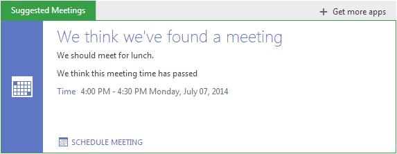 When you click on the app: To schedule the meeting, click on schedule meeting at the bottom of the text box.