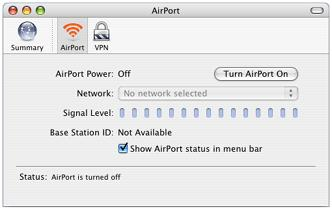 Configuring WPA2 for the Macintosh To setup your AirPort or Airport Extreme for use with WPA2. 1.