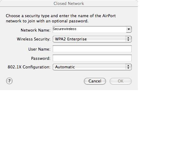 In the menu, select AirPort under Configuration. Next click on Turn AirPort On 3. Under Network, choose Other 4.