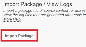 Individual files cannt be imprted 2. In the Select a Package sectin, click n Brwse My Cmputer and select the zip file.