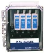 Powerware TVSS - ZoneMaster 150 Providing large service entrance panels with decades of protection from the most severe transients.