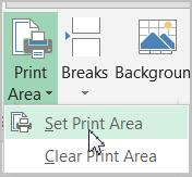 Setting Print Area: Use the same workbook to practice this function. This command is especially useful if you want to print the subset of your huge data. Keep the worksheet in the Layout view.