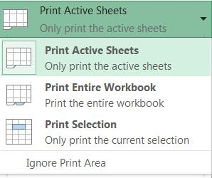 Print Active Sheets: If your workbook has more than one worksheets and you want to print multiple worksheets, activate the worksheets first before you get to this Print Preview pane and select Print