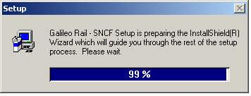 Installing Galileo Rail SNCF 1. Insert the Galileo Rail SNCF CD-ROM into the CD-ROM drive.