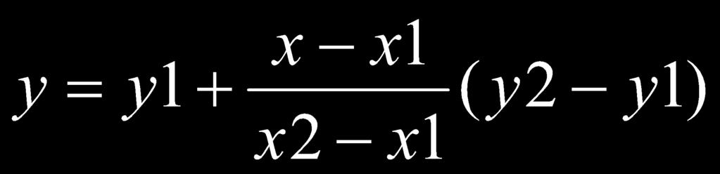 function of x Computing y value is