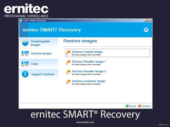 Smart Recovery software Smart Recovery is the first and currently only recovery tool for surveillance servers that is designed especially for the