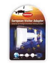 Visitor Travel Adapters Perfect Travel Accessories UK Visitor Adapter Ideal for all travellers visiting the UK EU Visitor Adapter Ideal for all travellers visiting Europe High Current European