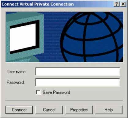 Figure 3-49. Network Connection Wizard Completion Window At this point, an icon, named Virtual Private Network, representing the new connection appears in the Network and Dial-up Connections window.