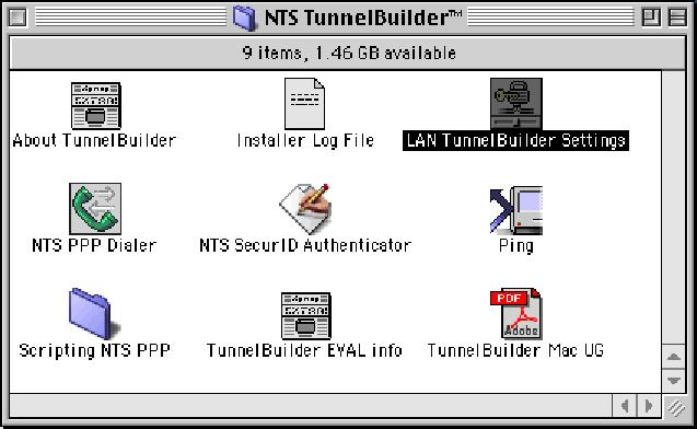 Once the LAN TunnelBuilder window appears, do the following to configure the application: a.