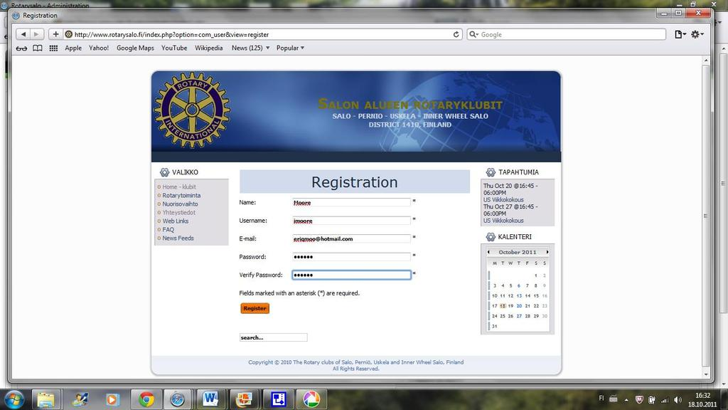 23 Picture 11 shows the registration page.