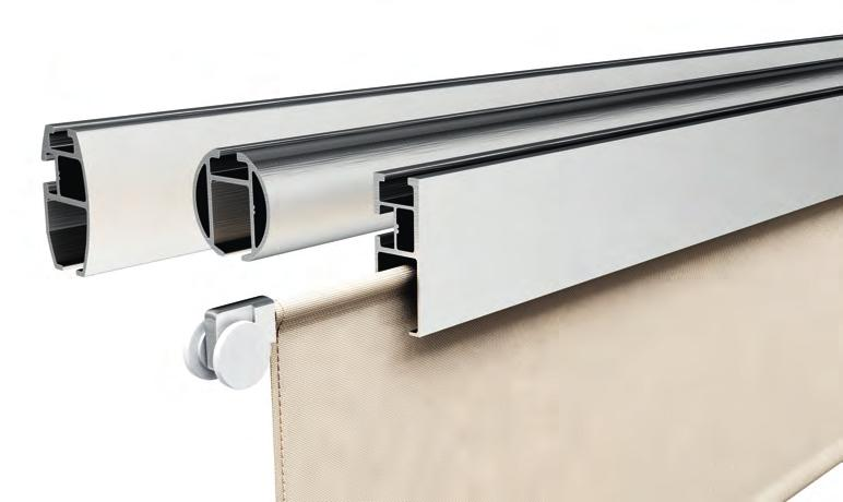 easy running high grade nylon rollers Panel system complimenting the following BÜSCHE rails: Rectangular-,
