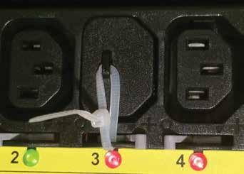 cable tie Color-coded outlet sections Color-coded outlet sections match a corresponding circuit breaker to easily identify which one feeds