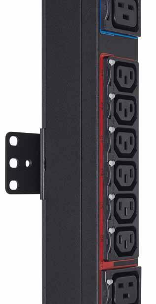 epdu G3 Managed selection guide Clip feet mounted to epdu Mounting buttons come pre-installed Easily mount epdus side-by-side in a rack Catalog number Input plug Cord (ft) Breaker Current (A) Max kw