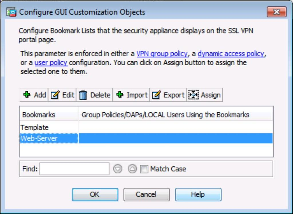 Click OK to continue and return to the Configure GUI Customization Objects window which
