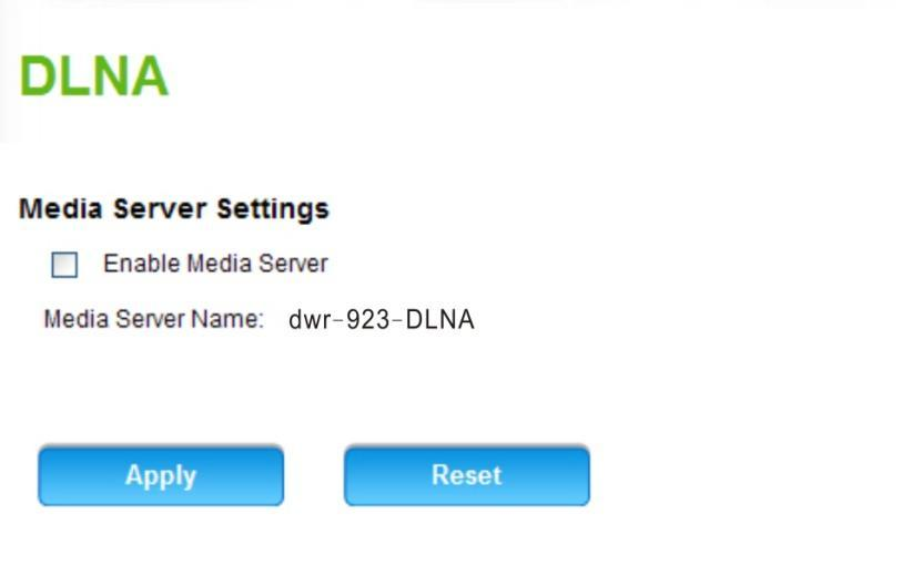 Advanced DLNA Turning this function on allows use of this product as a media server.