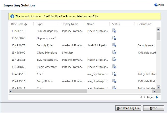 Figure 6: The Imprting Slutin page (Micrsft Dynamics CRM 2013 shwn). 10.