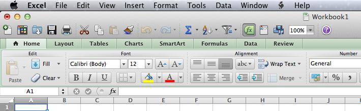 Creating a New Workbook When you open Microsoft Excel, the application automatically opens a new workbook for you. Workbook 1 will be displayed above the Standard Toolbar to indicate this.